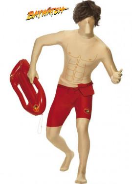 Disfraz de Los Vigilantes de la Playa: Chico 2ª Piel