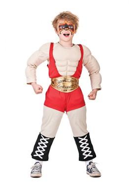 Disfraz de luchador de wrestling para niños
