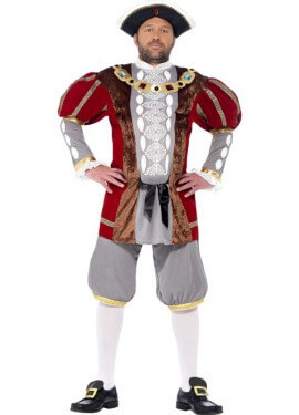 Disfraz de Lujo Enrique VIII para hombre