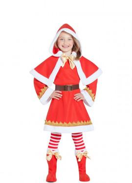 Disfraz De Mamá Noel Con Capa Para Niña