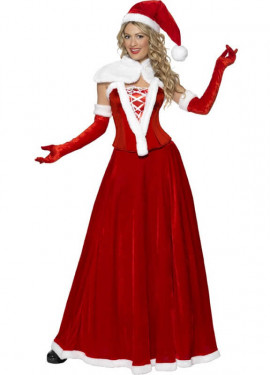 Disfraz de Mamá Noel con Corset para mujer