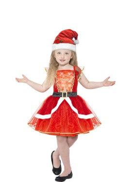 Disfraz de Mamá Noel con Luz para niña