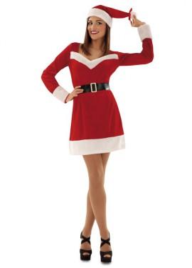 Disfraz de Mama Noel de Terciopelo para mujer