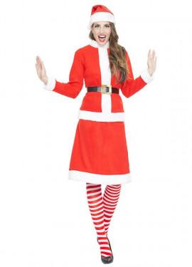 Déguisement de Mère Noël ou Miss Santa Claus pour femme