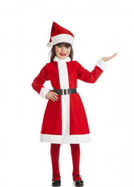 Disfraz de Mamá Noel para niña