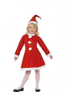 Disfraz de Mamá Noel Rojo para niña