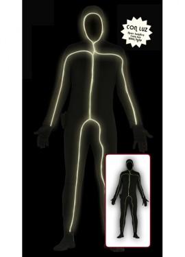 Disfraz de Man Black Light con 3 funciones de luz