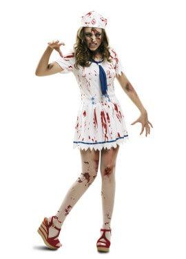 Disfraz de Marinera Zombie para mujeres de Halloween