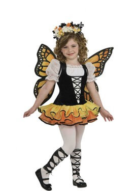Disfraz de Mariposa Monarca para niña