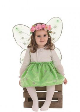 Costume farfalla verde per bambina
