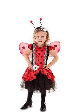 Disfraz de Mariquita con flor para niña