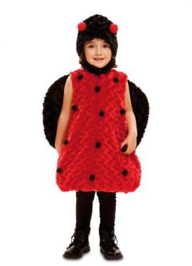 Disfraz de Mariquita de Peluche para niña