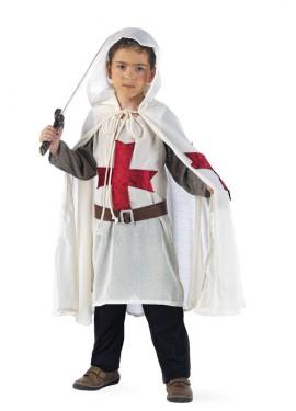 Disfraz de Medieval Templario Deluxe para niño