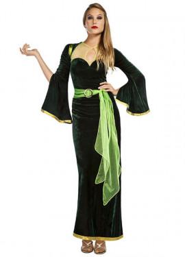 Disfraz de Medieval Verde para mujer