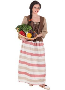 Disfraz de Mercader Medieval para mujer
