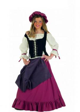 Déguisement Tavernière Médiévale enfants (plusieurs tailles)