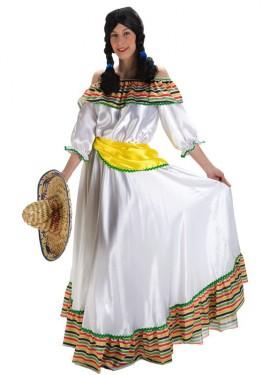 Disfraz de Mexicana lujo para mujer