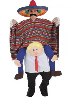 Disfraz de Mexicano a hombros de Presidente para adultos