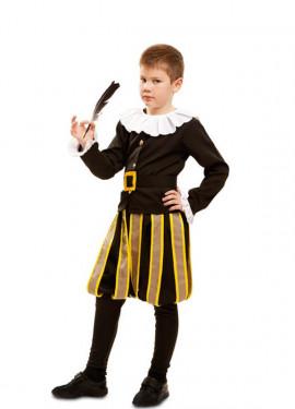 Disfraz de Miguel de Cervantes para niño