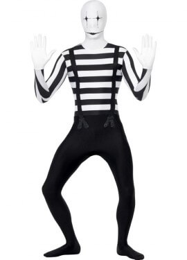 Disfraz de Mimo Segunda Piel para hombre