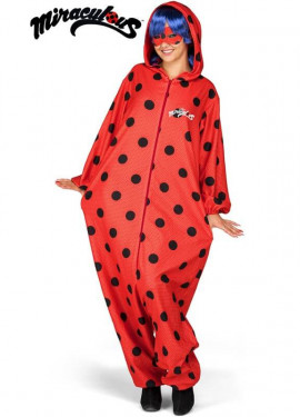 Disfraz de Miraculous Ladybug Pijama con peluca para mujer