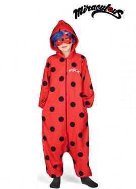 Disfraz de Miraculous Ladybug Pijama con peluca para niña