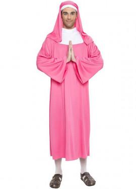 Disfraz de Monja Rosa para hombre