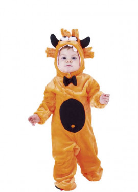 Disfraz de Monstruito Naranja para bebé