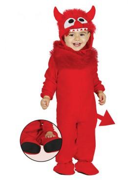 Disfraz de Monstruito rojo para bebé