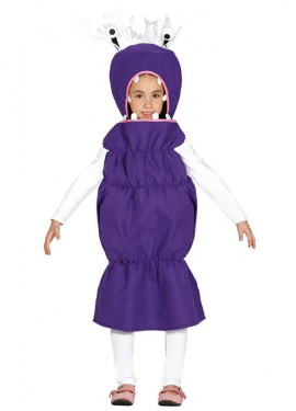 Disfraz de Monstruo Gusano para niña
