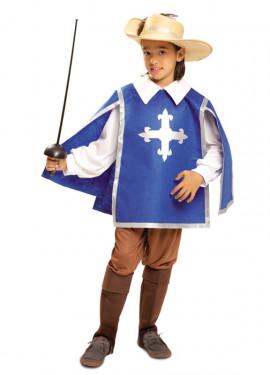 Déguisement Mousquetaire Bleu pour garçon