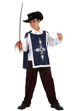 Disfraz de Mosquetero Azul para niños