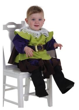 Disfraz de Mosquetero verde para bebé