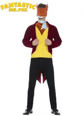 Disfraz de Zorro Fantástico Sr. Fox para hombre