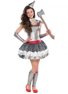 Disfraz de mujer de hojalata para niñas adolescentes