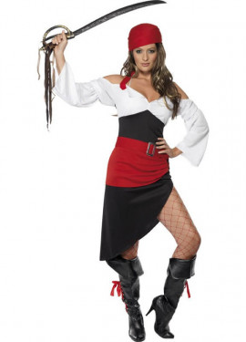 Disfraz de Mujer Pirata Atrevida