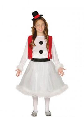 Disfraz de Muñeca de Nieve para niña