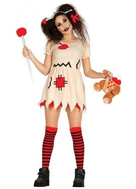 Disfraz de Muñeca de Trapo terrorífica para mujer
