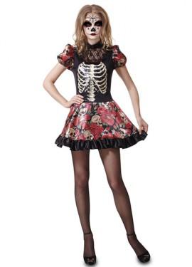 Disfraz de Muñeca Día de los Muertos de mujer de Halloween