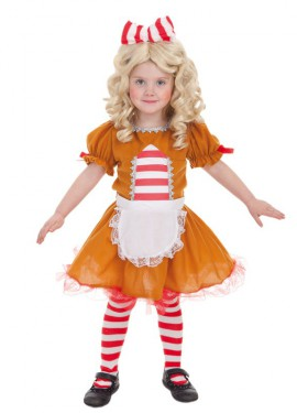Disfraz de Muñeca Galleta de Jengibre para niña