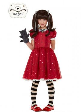 Disfraz de Muñeca Ruby Gorjuss Santoro con marioneta para niña