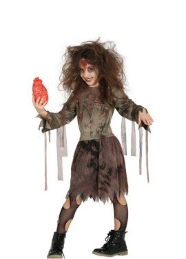 Disfraz de Muñeca Zombie para niña