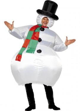 Disfraz de Muñeco de Nieve Hinchable para adultos