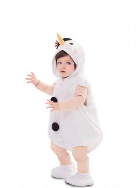 Disfraz de Muñeco de Nieve Fantasía para bebé