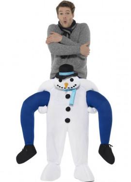 Costume da pupazzo di neve sulle spalle per adulti