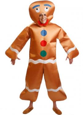 Costume bambola di biscotto di panpepato per uomo taglia ml