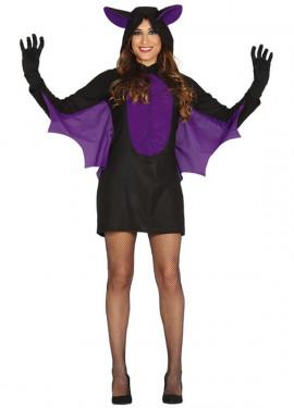 Disfraz de Murciélago morado para mujer