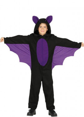 Disfraz de Murciélago morado para niño