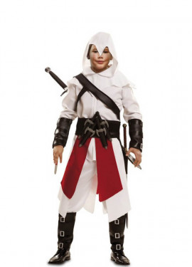 Costume da ninja assassino bianco per ragazzo