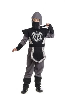 Disfraz de Ninja Kasuni gris para niño
